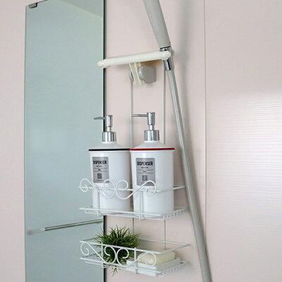 シャワーラック 2段 シャワーホルダー ボヌール 石鹸皿付き ( シャンプーラック 浴室収納 …