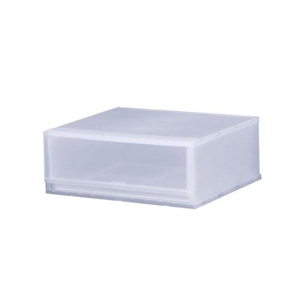 収納ケース プラスト PHOTO 1段 幅51×高さ20.5cm PH5101 ( 収納ボックス 収納チェスト 引き出し プラスチック 透明 おもちゃ箱 小物入れ 積み重ね 収納BOX 衣裳ケース スタッキング 衣類収納  クローゼット )