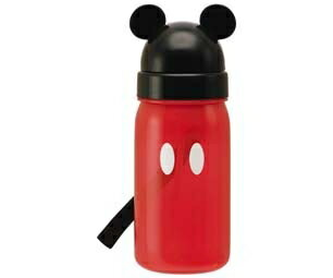 子供用水筒 ミッキーマウス ミッキー ストロー付 350ml プラスチック製 キャラクター すいとう