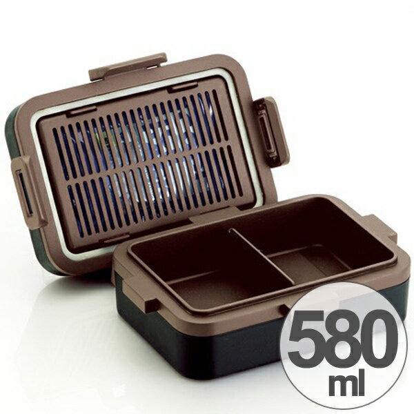 お弁当箱 4点ロックランチボックス 580ml 保冷 アースカラー