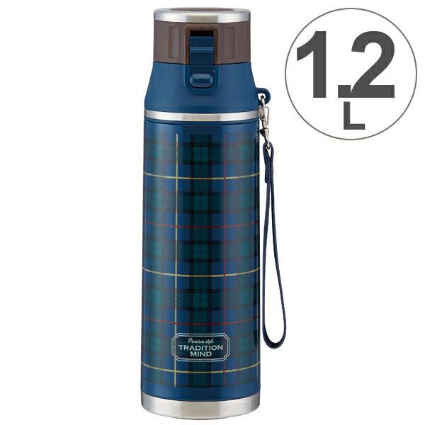 水筒 直飲み ワンプッシュステンレスボトル トラディションマインド 1.2L ロック付き