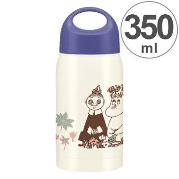 ステンレスマグボトル ムーミン お花畑 350ml ( ステンレスボトル 保温 保冷 マグボトル すいとう スープボトル )