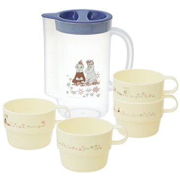 マグカップ 220ml ムーミン コップ マグ プラスチック ケース付き スタッキング 4個セット ( 食器 ピッチャー 冷水筒 キャラクター )