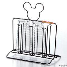 コップスタンド ミッキーマウス 水切りラック スチール製
