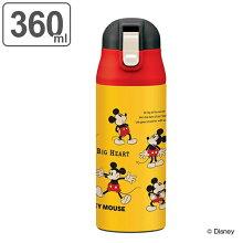 水筒 ミッキーマウス 直飲み ワンプッシュステンレスマグボトル 360ml ミッキーチアフル