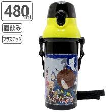 水筒 子供 ゲゲゲの鬼太郎 直飲みプラワンタッチボトル 480ml キャラクター