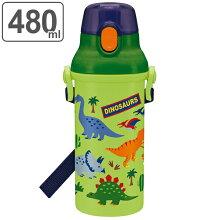 水筒 子供 ディノサウルス 直飲みプラワンタッチボトル 480ml