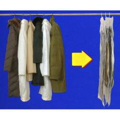 衣類圧縮袋 ハンガーにそのままつるせる衣類圧縮袋 ロング ( クローゼット用 収納 バルブ式 …