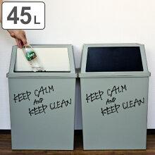 ゴミ箱 分別 積み重ねゴミ箱 ワイド 45リットル