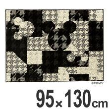 ラグ スミノエ ミッキー ジオメトリーサークルラグ 95×130cm