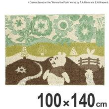 ラグ スミノエ くまのプーさん インザウッドラグ 100×140cm