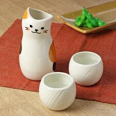 徳利 猫 とっくり おちょこ セット 食器
