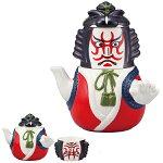 急須 湯呑み セット 歌舞伎 ティーポット 陶器 食器