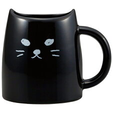 マグカップ 330ml くろねこ コップ マグ 磁器 猫