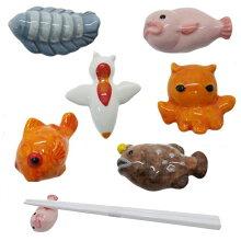 箸置き 深海魚 おもしろ はしおき 磁器