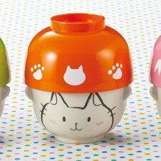 汁椀 茶碗 セット ミニ ネコ どうぶつシリーズ 磁器 食器 日本製