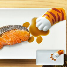 プレート どろぼう猫魚プレート とらねこ 皿 仕切り皿 磁器 食器