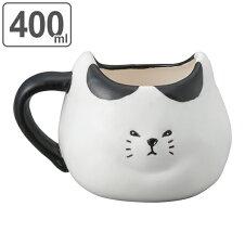 マグカップ 400ml ふてぶてしい猫 ぶちねこ 磁器製 かわいい