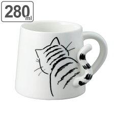 マグカップ 400ml 猫 しっぽマグ 食器
