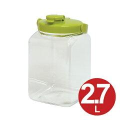 果実酒ビン 保存容器 角型 2.7L プラスチック製 ( 果実酒 酵素 保存瓶 保存ビン びん スナップウエア 梅酒 ビン 瓶 ストッカー ) 05P30Nov14