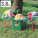 クーラーボックス ハードタイプ テーブル付 テーブルクーラー ポルカ ( クーラーバック ピクニックテーブル アウトドアテーブル クーラーバッグ 保冷バッグ アウトドア用品 キャンプ用品 冷蔵ボックス )