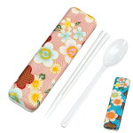 コンビセット 日本製 HAKOYA(ハコヤ) 布貼スプーン&箸セット 18cm 加賀桜