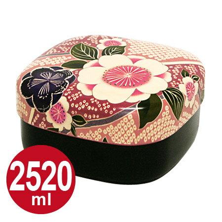 HAKOYA(ハコヤ) 布貼行楽弁当 2520ml 2段 桜ピンク 和風柄