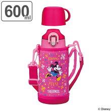 子供用水筒 サーモス(thermos) 真空断熱 2ウェイボトル 直飲み&コップ付 カバー付 600ml ミニーーマウス FHO-600WFDS