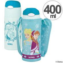 子供用水筒 サーモス 真空断熱ストローボトル アナと雪の女王 ステンレスボトル 400ml FHL-400FDS