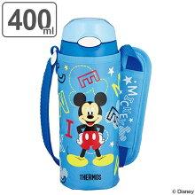 水筒 子供 サーモス 真空断熱ストローボトル ミッキーマウス ステンレスボトル 400ml FHL-401FDS