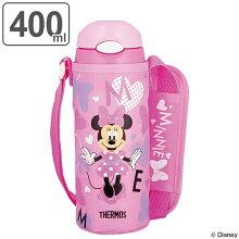 子供用水筒 サーモス 真空断熱ストローボトル ミニーマウス ステンレスボトル 400ml FHL-401FDS