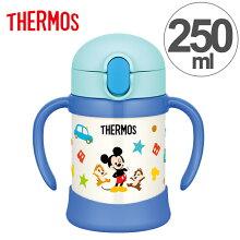 子供用水筒 サーモス thermos 真空断熱ベビーストローマグ ミッキー 250ml FHV-250DS ステンレス製