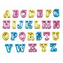 クッキー型 抜き型 アルファベット 26個セット プラスチック製