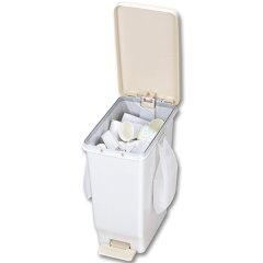 ゴミ箱ふた付きセパスリムペダルペール47L