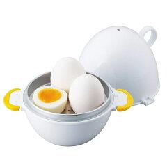 【ポイント最大5倍】半熟も固ゆでも思いのまま!調理器具 電子レンジ ゆで卵レンジでらくチン ...