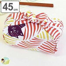 風呂敷 中巾 チーフ こはれ ねこととり 45cm ふろしき ナフキン ランチクロス 綿100%