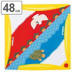 風呂敷 中巾 チーフ 富士山 キイロ 48cm ふろしき ナフキン ランチクロス 綿100%