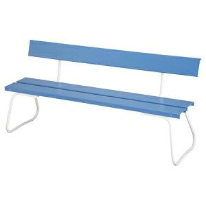 樹脂製ベンチ 背付き 180cm ( 送料無料 公園 ガーデン 椅子 )