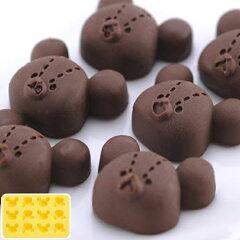 シリコントレー シリコン型 くまのがっこう キャラクター ( 焼き型 チョコレート型 抜き型 …