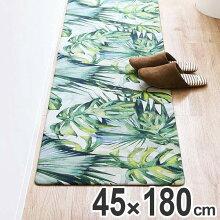 キッチンマット 拭ける PVCキッチンマット 45×180cm ジャングル