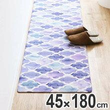 キッチンマット 拭ける PVCキッチンマット 45×180cm モロッカン