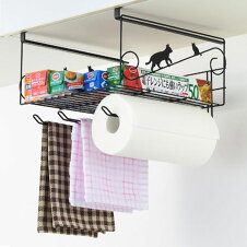 収納ラック ネコの吊り戸棚下ラック スチール製 吊り戸棚下収納