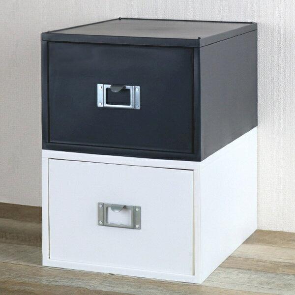 収納ボックス ライフモデュール DVD ファイルケース モノトーン ( プラスチック 引き出し CD・DVD 収納用品 引き出し 引出し 整理 省スペース オフィス レターボックス 事務用品 小物収納 整理整頓 デスク周り 小物ケース 白 黒 )