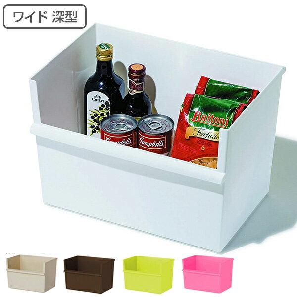 収納ボックス ワイド深型 カラーボックス インナーボックス 収納 日本製 ( 収納ケース プラスチック 横置き おもちゃ箱 スタッキング 積み重ね カラーボックス対応 カラーボックス用 インナーケース 小物収納 小物入れ 小物 おもちゃ 収納BOX )の写真