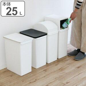 ゴミ箱 ダストボックス カスタムペール 本体 深型 25L ( 分別 ごみ箱 ダストボックス 縦型 スタッキング 日本製 約 幅25 cm プラスチック製 分別ゴミ箱 分別ごみ箱 カウンター下 約 25 リットル おしゃれ 無地 )