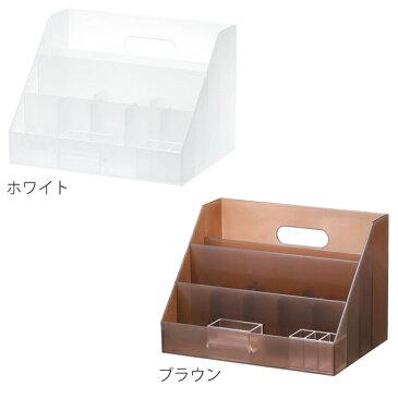 小物収納 プラスチック 卓上収納 LM-02 A4 サイズ 収納ボックス 日本製 ( 収納 ボックス 小物入れ ペン立て 収納用品 省スペース オフィス 収納ケース 整理整頓 デスク周り 小物ケース レターケース 事務用品 文房具 おしゃれ )