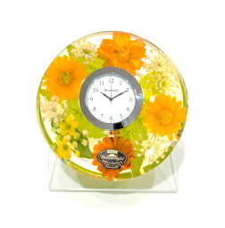 ドリームクロック 置き時計 マーガレット 直径約11cm×高さ4cm CDD72114CL
