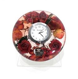 ドリームクロック 置き時計 フラワー&フルーツ 直径約11cm×高さ4cm CDD7236CL
