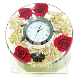 ドリームクロック 置き時計 プリティローズ 直径約11cm×高さ4cm CDD7245CL