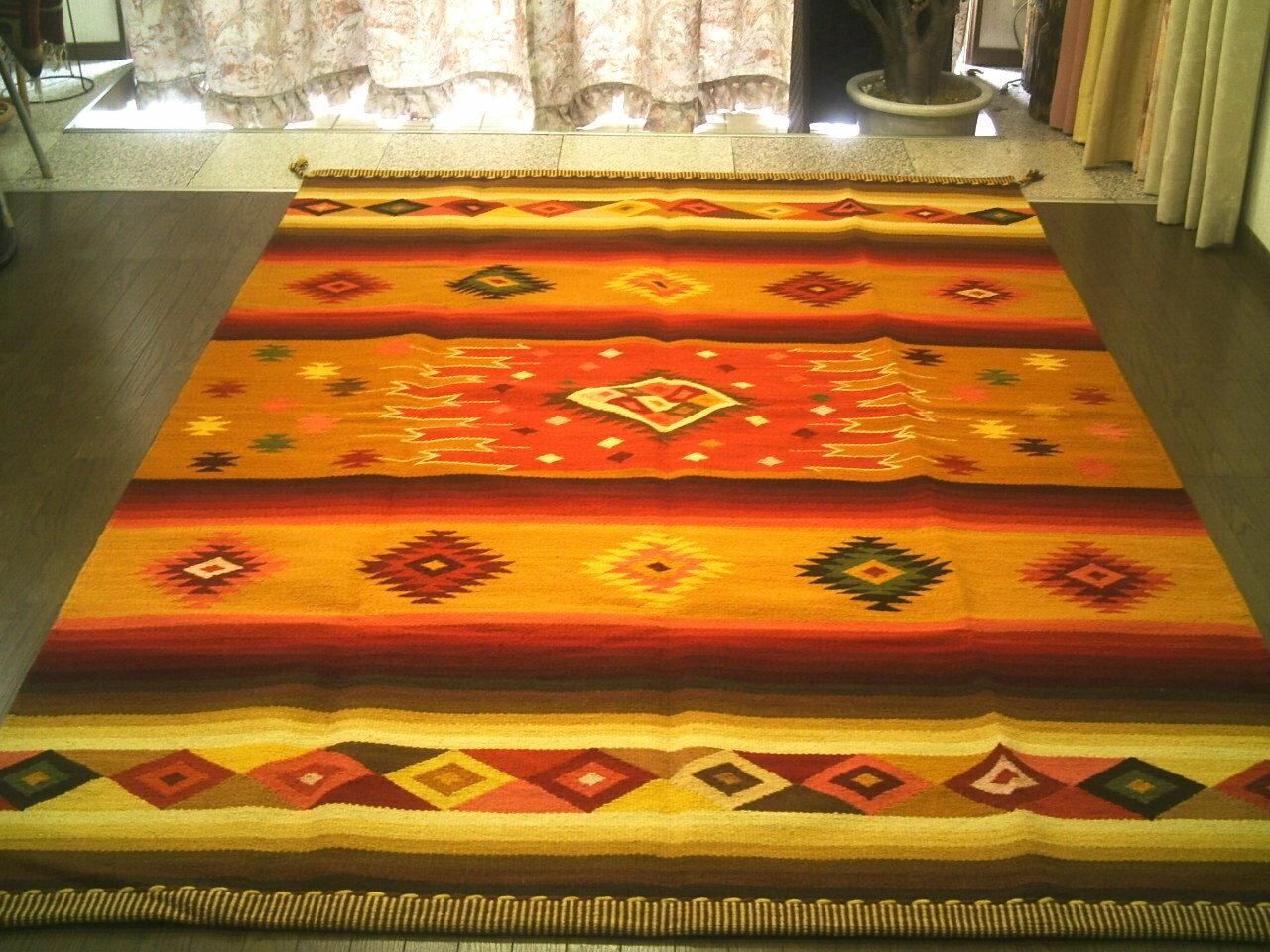 【楽天市場】ペルーウールラグカーペットwool ラグマット 厚手 北欧 夏 カーペット 絨毯 「眩い星」約 3畳